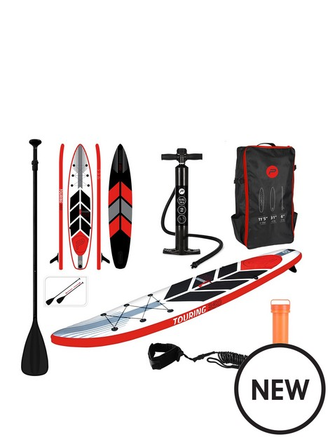 pure4fun-pure-touring-sup-inflatable-stand-up-paddle-board-115-feet-complete-set-with-pump-patch-tool-foot-lead-adjustable-paddle-and-waterproof-2l-bag