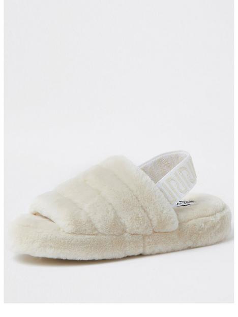river-island-chunky-elastic-mule-slipper-cream