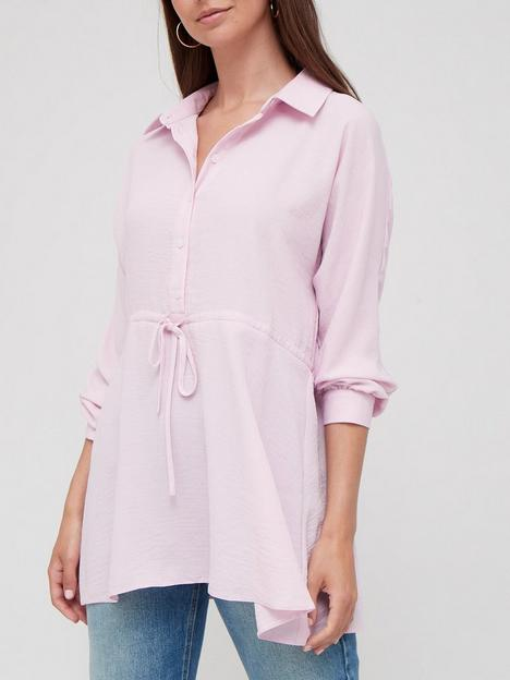 v-by-very-tie-waist-detail-floaty-blouse-blush