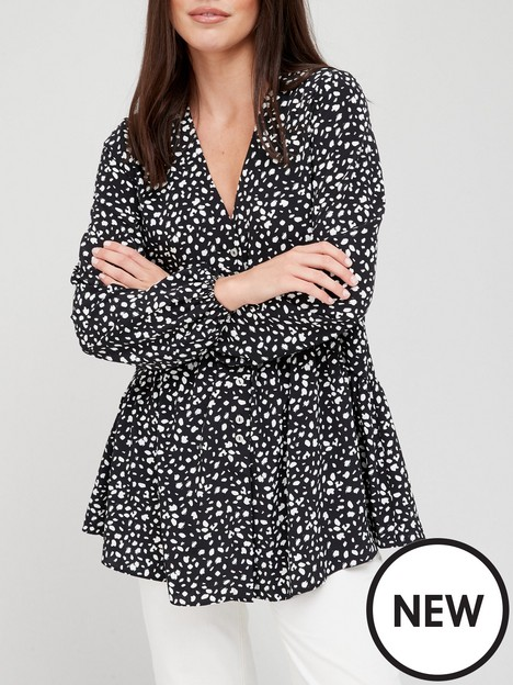 v-by-very-printed-button-detail-tunic-blouse-monochrome