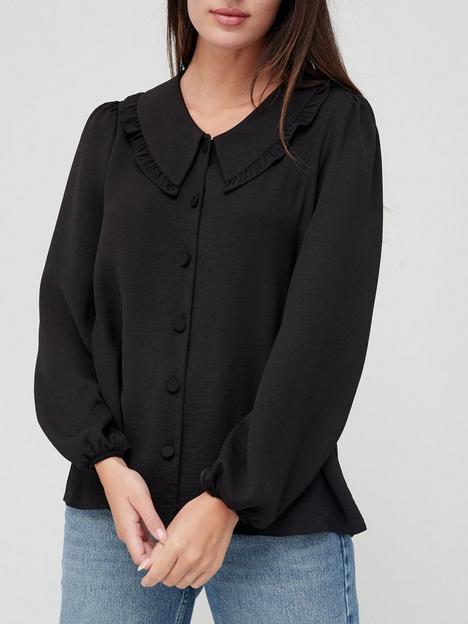 v-by-very-oversized-frill-collar-blouse-black