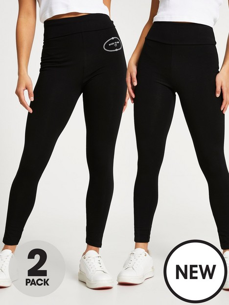 ri-petite-ri-petite-multipack-plain-and-branded-legging-black