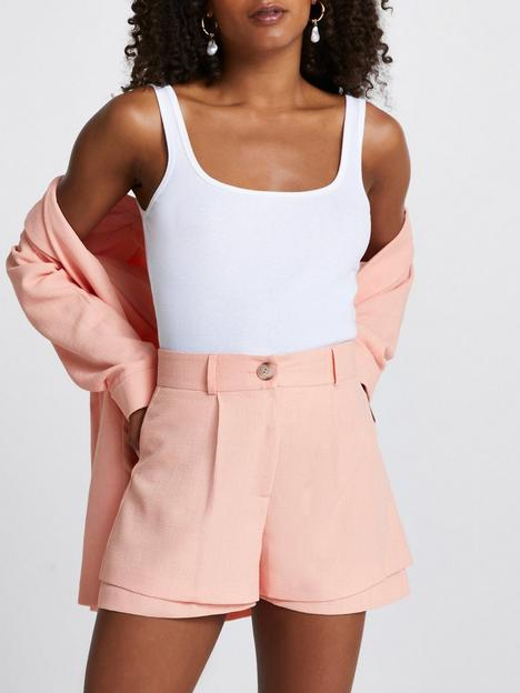 river-island-double-layer-short-coral