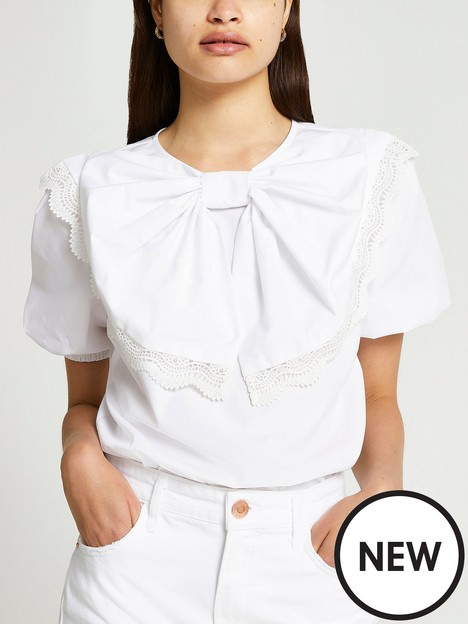 river-island-bow-top-white