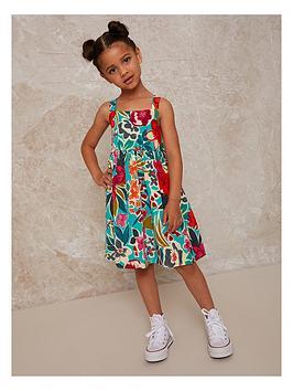 chi-chi-london-girls-tropical-print-sleeveless-midi-dress-multi