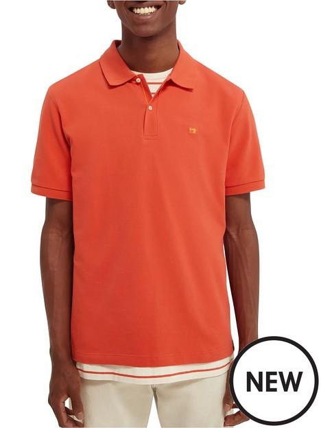 scotch-soda-logo-embroidered-polo-shirt-orangenbsp