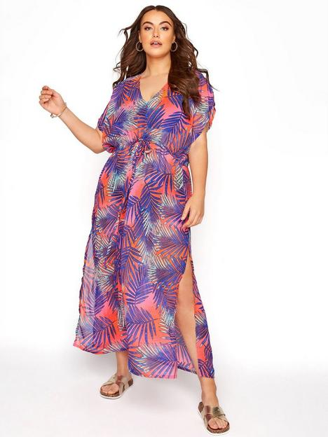 yours-yours-clothing-neon-palm-print-longline-cover-up-multinbsp