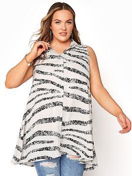 yours-yours-clothing-sleeveless-shirt-white-animal-stripe