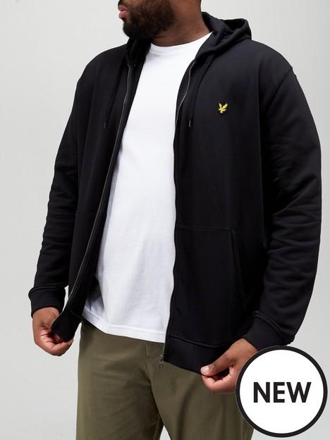 lyle-scott-big-amp-tallnbspzip-through-hoodie-black