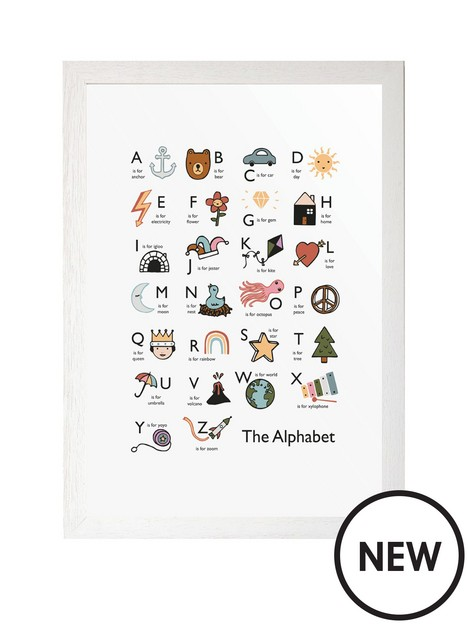 east-end-prints-alphabet-by-kid-of-the-village-a3-framed-print