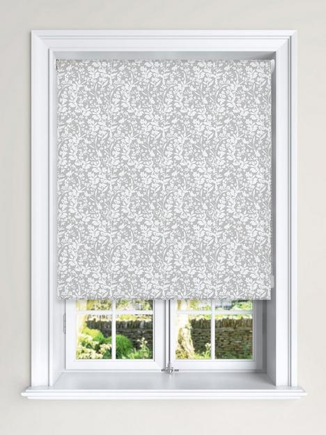 floral-silhouette-printed-blackout-roller-blind