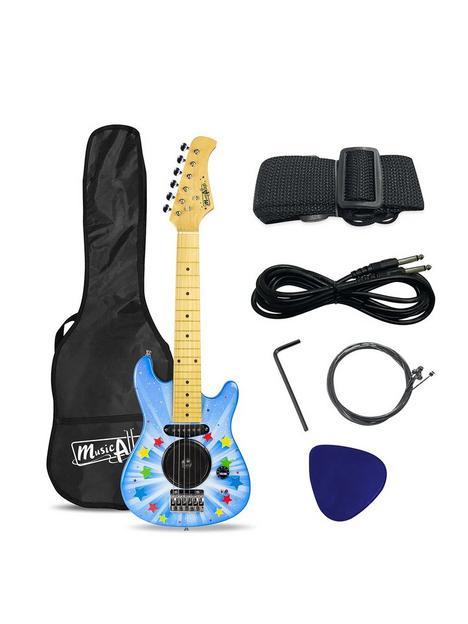 music-alley-music-alley-junior-electric-guitar-with-inbuilt-amp-guitar-bag