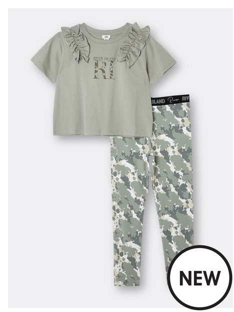 river-island-girls-frill-tshirt-and-legging-set-khaki