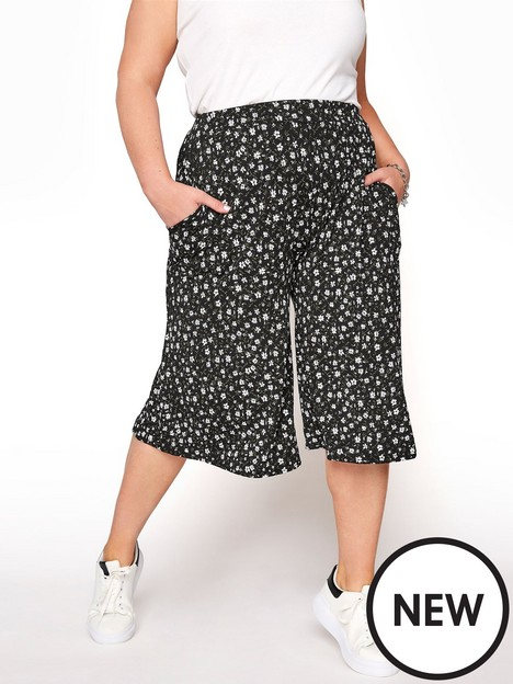 yours-yours-summer-daisy-culottes-black