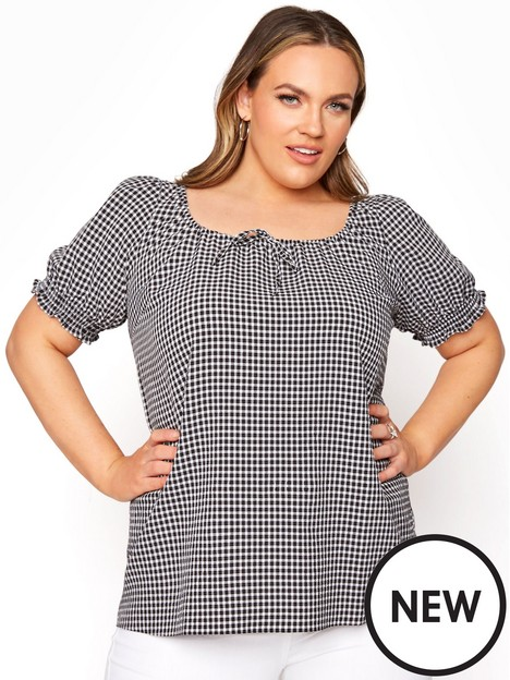 yours-gingham-gypsy-longline-top