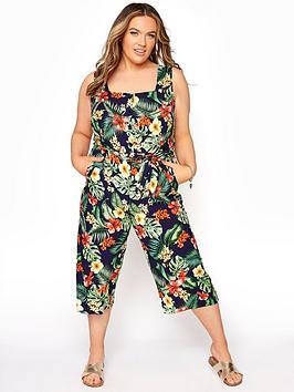 yours-tropical-button-crop-jumpsuit