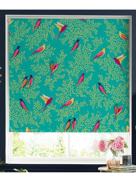 sara-miller-green-birds-120x162-roller-blind