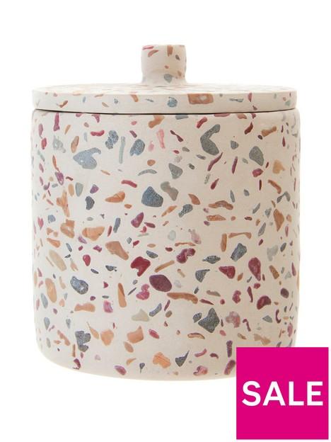 premier-housewares-gozo-concrete-cotton-wool-jar