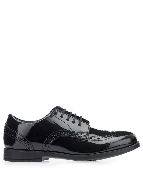 start-rite-brogue-senior-shoe-black-patent
