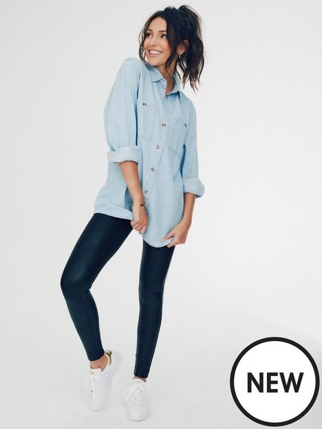 michelle-keegan-denim-shirt-bluenbsplight-wash
