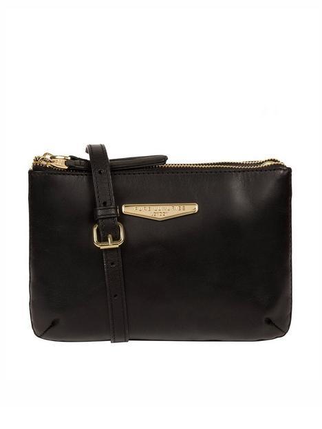 pure-luxuries-london-gionvanna-zip-top-leather-crossbody-clutch-bag-black