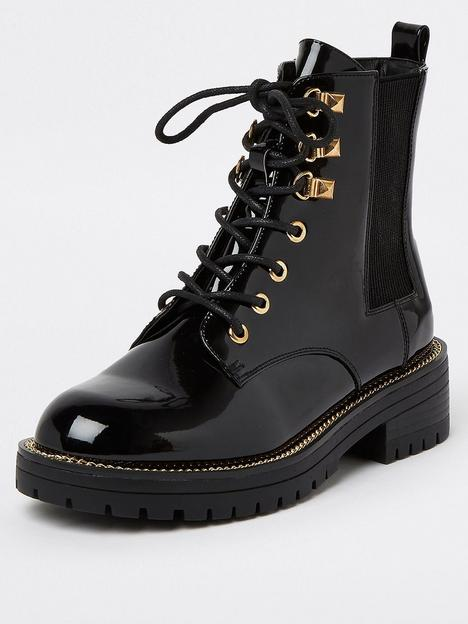 river-island-wide-fit-lace-up-chunky-boot-black