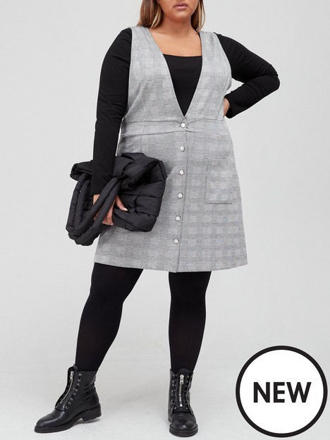 v-by-very-curve-jerseynbsppinafore-dress-checknbsp