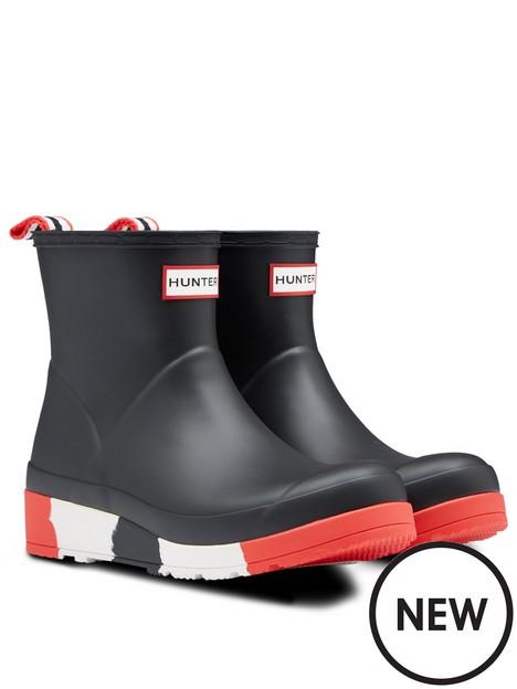 hunter-hunter-play-short-stripe-sole-wellington-boots