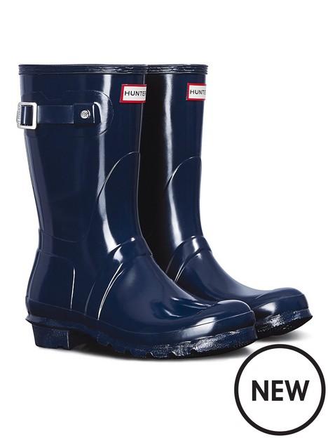 hunter-original-short-gloss-wellington-boots-navy