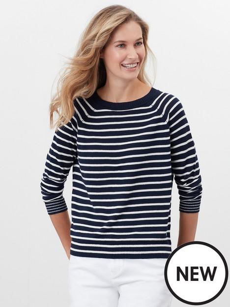 joules-knitted-linen-blend-stripe-jumper-navycream