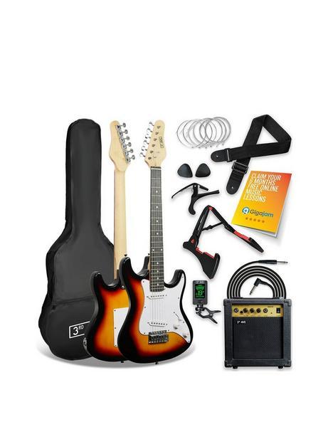 3rd-avenue-3rd-avenue-34-size-electric-guitar-pack-sunburst