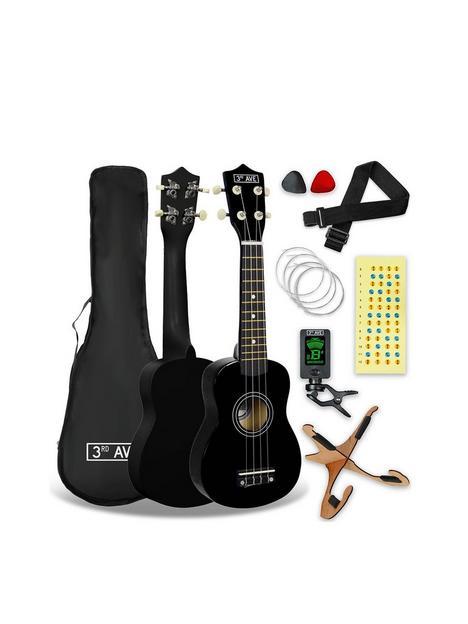 3rd-avenue-soprano-ukulele-black-pack