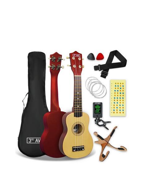 3rd-avenue-3rd-avenue-soprano-ukulele-pack-natural