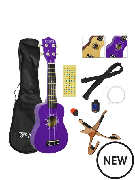 3rd-avenue-soprano-ukulele-pack-purple
