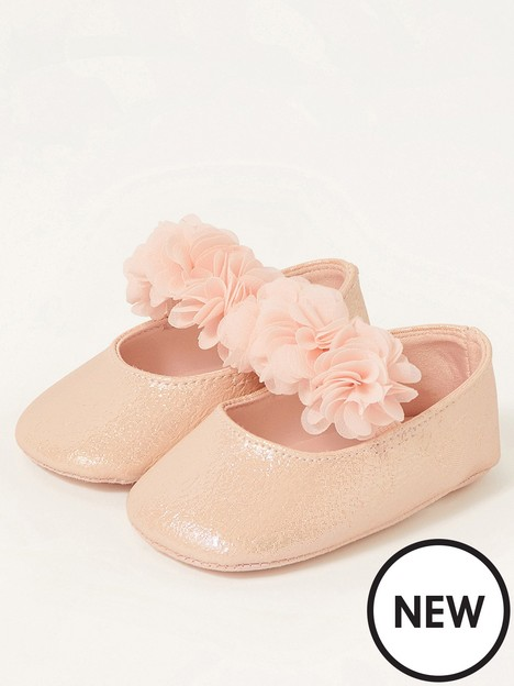 monsoon-baby-girls-textured-corsage-booties-pink