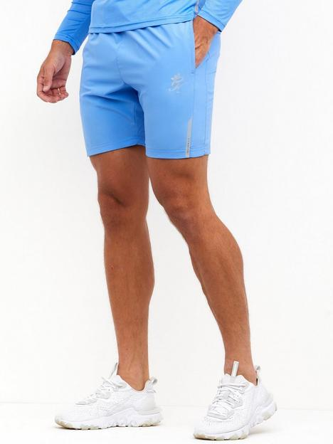 gym-king-contrast-texture-short-marine-blue