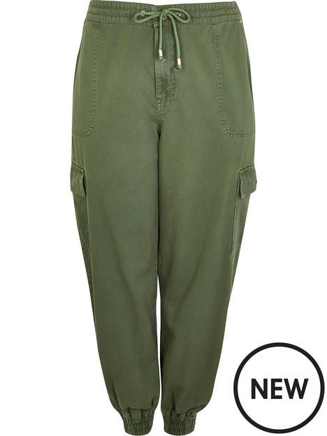 ri-plus-loose-tencel-cargo-trouser-khaki