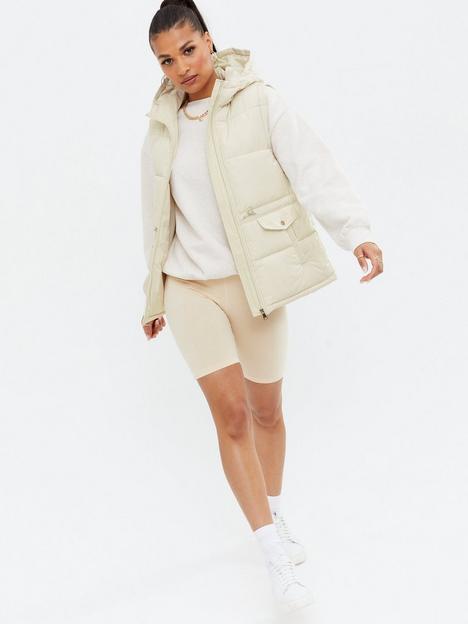 new-look-hooded-drawstring-gilet-cream