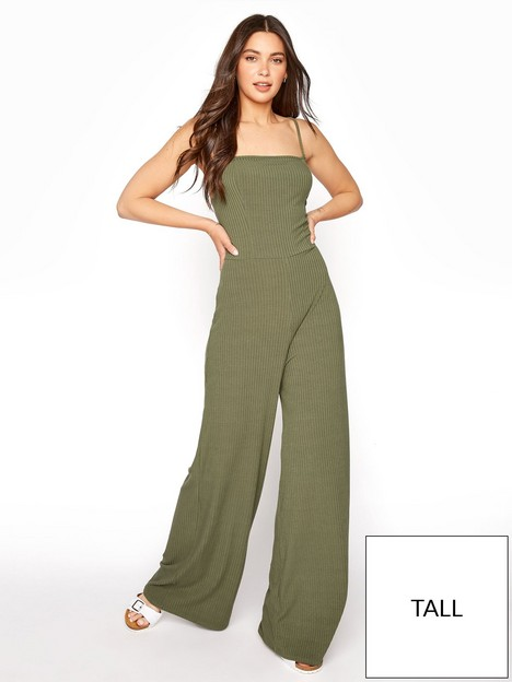 long-tall-sally-ribbed-wide-leg-jumpsuit-green