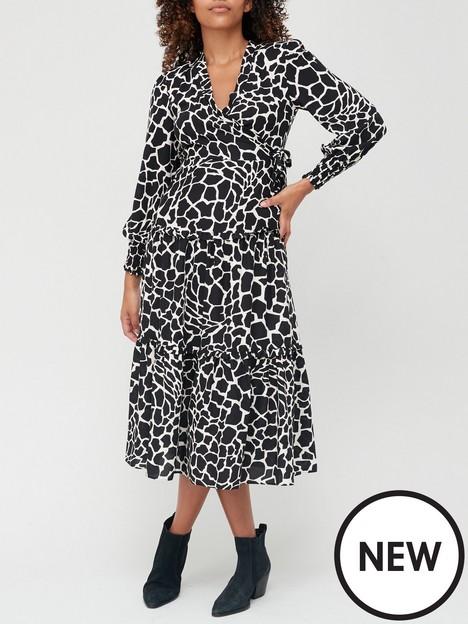 v-by-very-wrap-tiered-midi-dress