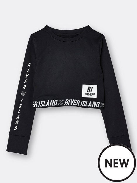 river-island-girls-active-long-sleeve-top-black