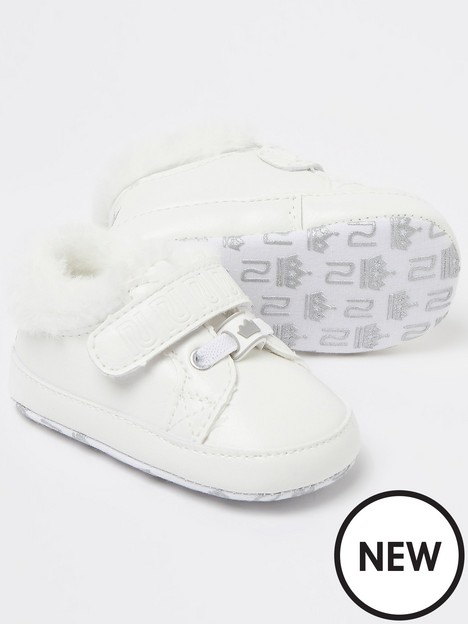river-island-baby-baby-faux-fur-trainers-white