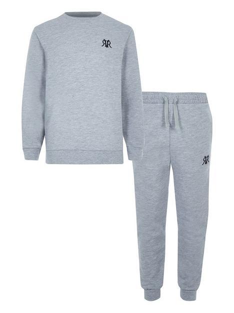 river-island-boys-logo-crew-sweat-and-jog-pant-set-grey
