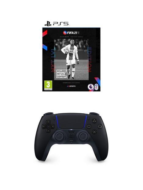 playstation-5-black-dualsense-wireless-controller-amp-fifa-21--nbspps5