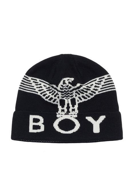 boy-london-boy-wingspan-beanie-black