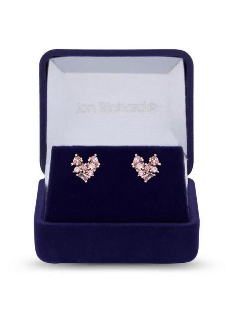 jon-richard-jon-richard-rose-gold-plate-cubic-zirconia-mixed-stone-heart-earrings