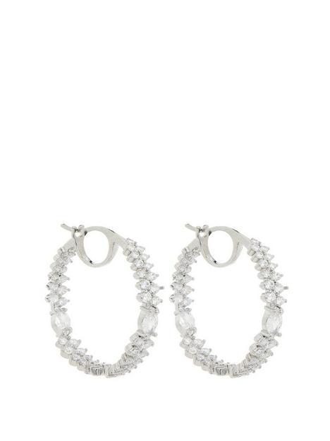 jon-richard-jon-richard-rhodium-mixed-stone-hoop-earring