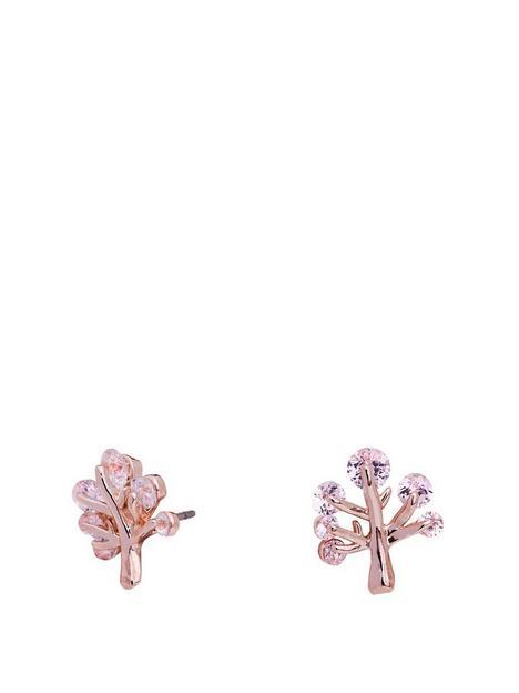 jon-richard-jon-richard-rose-gold-plate-cubic-zirconia-tree-of-life-stud-earring