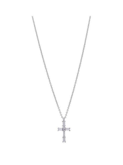 jon-richard-jon-richard-rhodium-plate-cubic-zirconia-cross-pendant