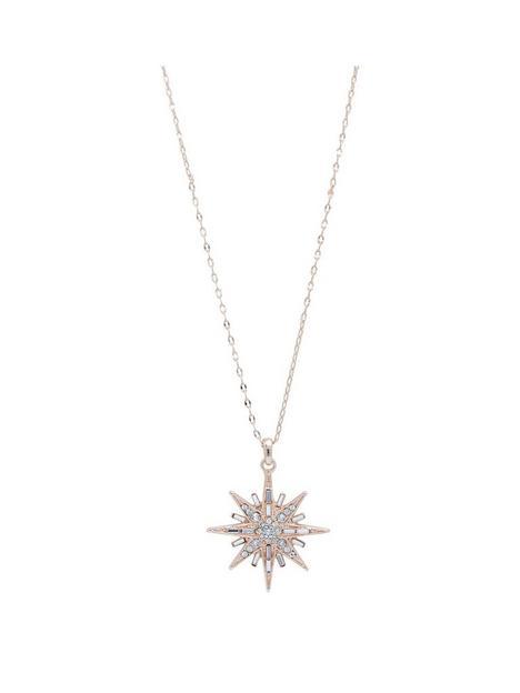 jon-richard-rose-gold-plate-swarosvki-star-pendant